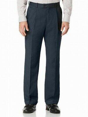 Sponsored Ebay Perry Ellis New Twilight Blue Mens Size 34x30 Classic Dress Pleat Pants 89 25 Black Dress Pants Men Casual Dress Pants Mens Pants Size Chart