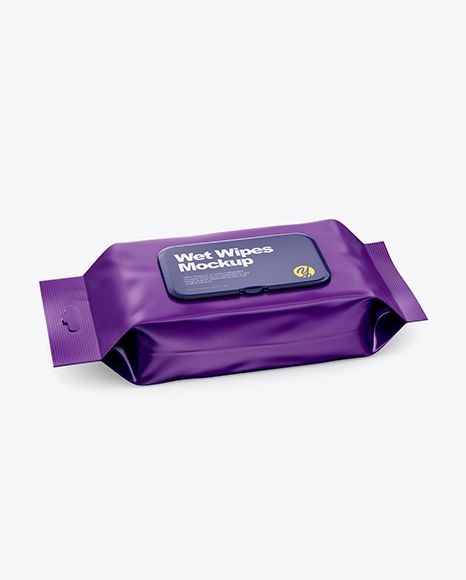Free Mockups Matte Wet Wipes Pack W Plastic Cap Mockup Half