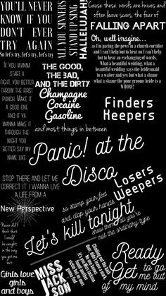 Panic at the disco wallpaper #296685
