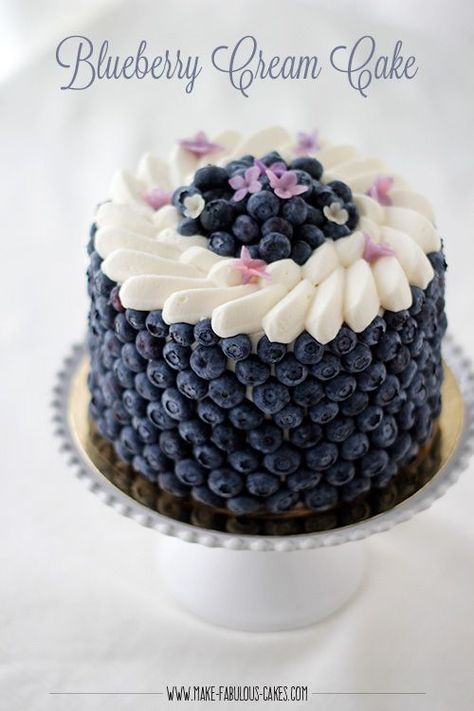 Blackberry Lavender Naked Cake with White Chocolate Buttercr.- Blackberry Lavender Naked Cake with White Chocolate Buttercream. Blueberry Cream Cake By Make Fabulous Cakes -