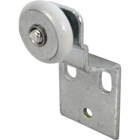 Pack of 2 Slide-Co 16202-F Closet Door Roller with Front 3//8-Inch Offset and 3//4-Inch Nylon Wheel,