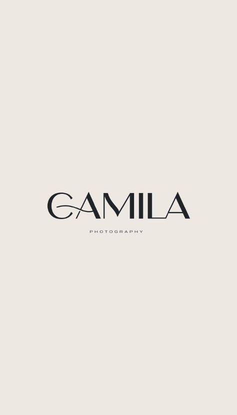 Minimalist Typography Branding Design Template