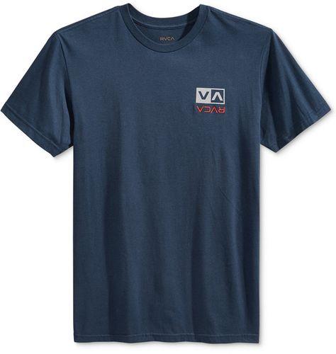 New RVCA Box Logo Print Men/'s Heathered T-Shirt