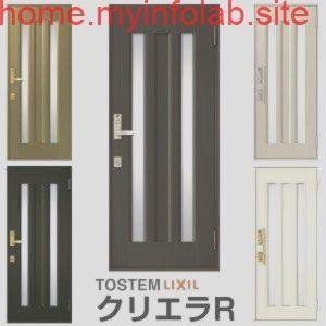 玄関ドア リクシル Lixil クリエラr 片開きドア 18型ランマ無 内付 半