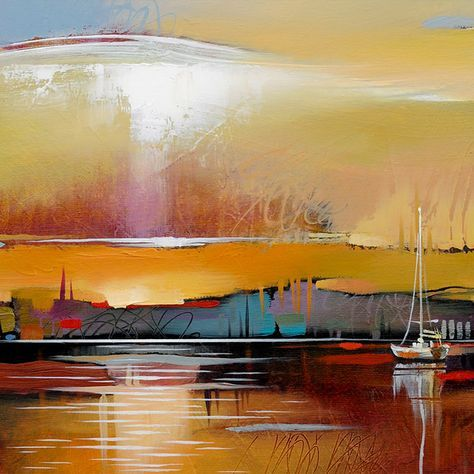 Mill Creek Sunset Abstract Landscape Fine Art Print Abstract Landscape Modern Artwork Abstract Landscape Paintings