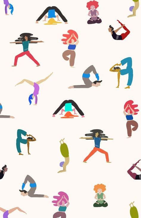 yoga lovers Art Print by .eg