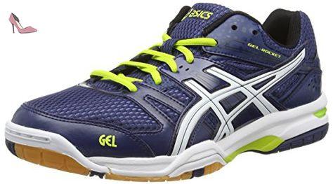 ASICS Gel-rocket 7, Chaussures de Volleyball homme - Bleu (navy/white/lime 5001), 46 EU - Chaussures asics (*Partner-Link)