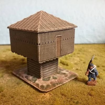 Raised Blockhouse from Buildings in Turmoil | 10mm Wargaming