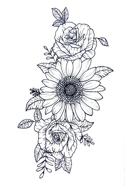 Sunflower Tattoo Sleeve, Sunflower Tattoo Shoulder, Sunflower Tattoos, Sunflower Tattoo Design, Flower Tattoos On Shoulder, Girl Shoulder Tattoos, Flower Sleeve, Upper Shoulder Tattoos, Flower Tattoos On Thigh