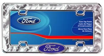 Ford Checkered Plate Chrome Licence Plate Frame In 2020 License