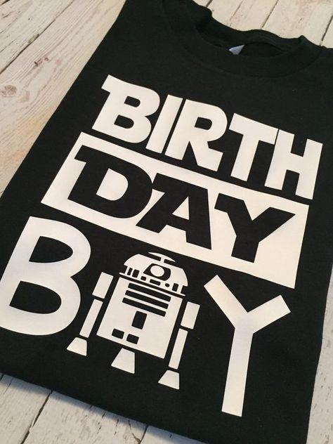 Star Wars Birthday Boy R2D2 Boy Shirt or Onesie
