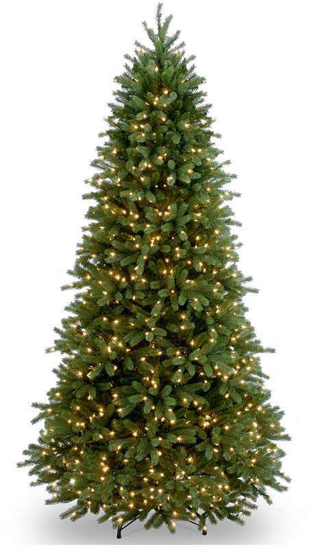 Clear National Tree Company National Tree 6 5 Feel Real Jersey Fraser Fir Slim Tree W Pre Lit Christmas Tree Christmas Tree Lighting Artificial Christmas Tree