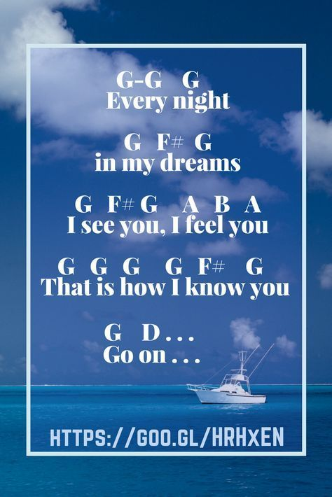 Letter Notes For My Heart Will Go On By Celine Dion From Titanic