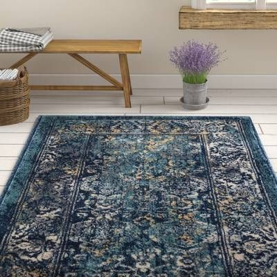 Arend Oriental Navy Blue White Area Rug With Images Rugs Area