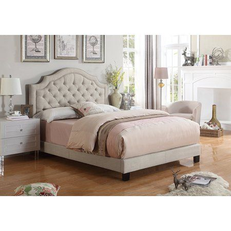Free Shipping Buy Alton Furniture Angelo Tufted Upholstered Panel Platform Bed At Walmart Com Queen Upholstered Bed