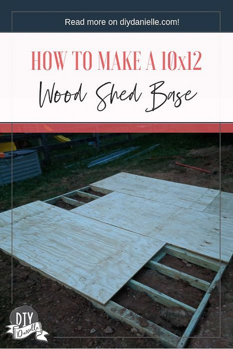 How To Build A Shed Base Diy Danielle Building A Shed Base Shed Base Backyard Sheds
