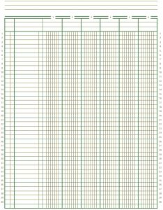 ledger sheet printable free