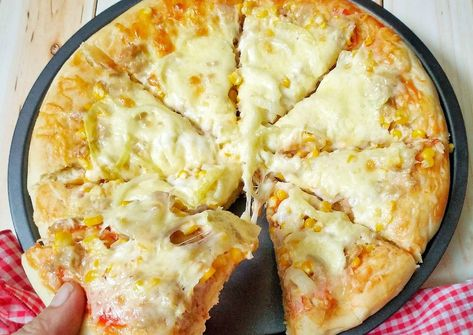 Resep Pizza Tuna Super Empuk Oleh Susan Mellyani Resep Pizza Tuna Resep Pizza