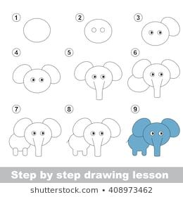 Raster Copy Step By Step Drawing Tutorial Vector Kid Game How