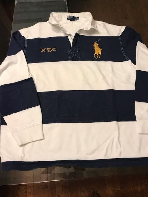 6370e637 VINTAGE POLO Ralph Lauren 1/4 Zip Up Rugby Polo Long Sleeve Mens Size XL  #fashion #clothing #shoes #accessories #mensclothing #shirts (ebay link)