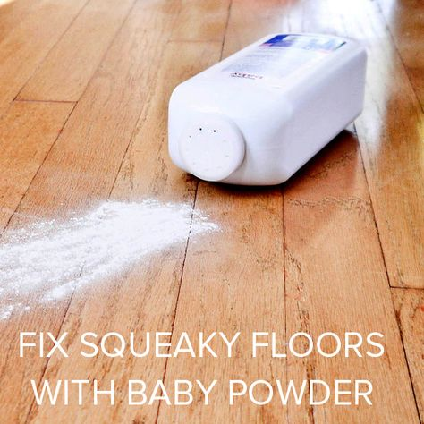 Fix Squeaky Floors With Baby Powder Squeaky Floors Fix Squeaky Floors Flooring