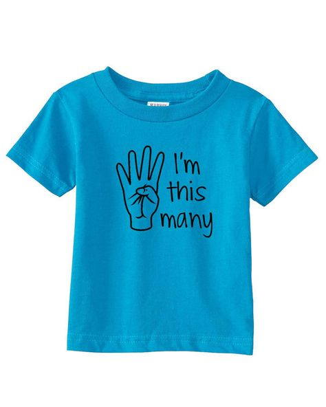 Im This Many Four Toddler Shirt 4 T