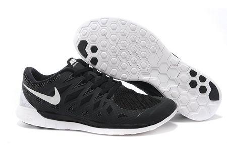 nike free run 5.0+ 2014 black white