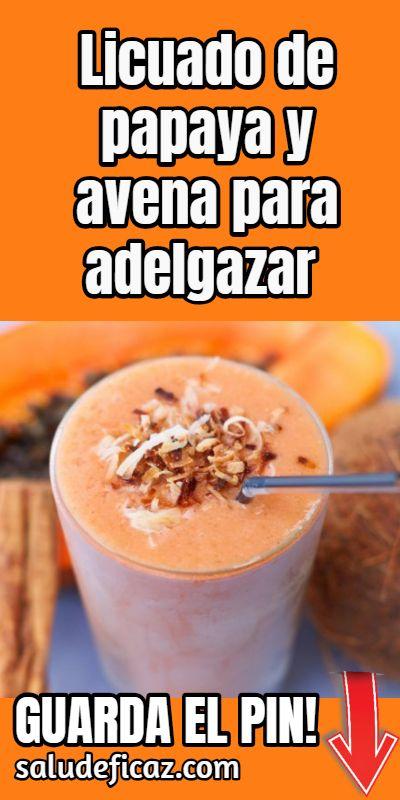 receta de papaya para bajar de peso