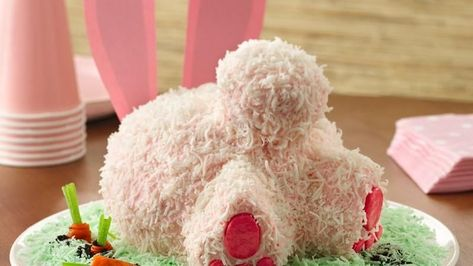 Hop to it and make this sweet and silly bunny butt cake for your spring party.  Learn to make this recipe with our how-to.
