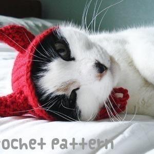 Crochet Pattern Pet Hat Costume Pdf Instant Download Etsy In 2021 Cat Hat Pattern Crochet Cat Hat Pet Costumes