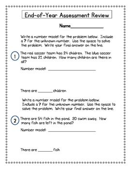 2nd Grade Everyday Math Edm4 End Of Year Assessment Review