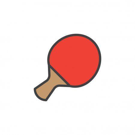 Table Tennis Racket Filled Outline Line Icon Line Vector Sign Stock Vec Spon Filled Outline Racket In 2020 Table Tennis Racket Table Tennis Tennis Racket
