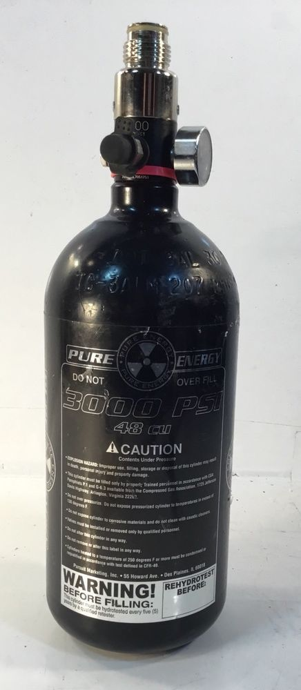 pure energy 3000 PSI 48 CU Compressed Air Tank ~ Paintball