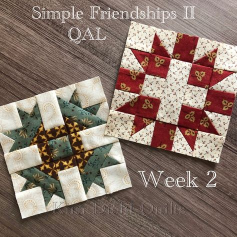 Simple Friendships II Mystery Sampler Quilt Along - Kim Diehl Star Quilt Blocks, Star Quilts, Scrappy Quilts, Quilt Block Patterns, Mini Quilts, Quilting Projects, Quilting Designs, Civil War Quilts, Miniature Quilts