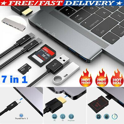 USB C Hub USB Type C 3.1 Adapter Dock with 4K HDMI PD Charge for MacBook