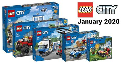 Lego City 2020 Lineup Reveals 8 New Sets For Police And Fire News Lego City Sets Lego Lego City