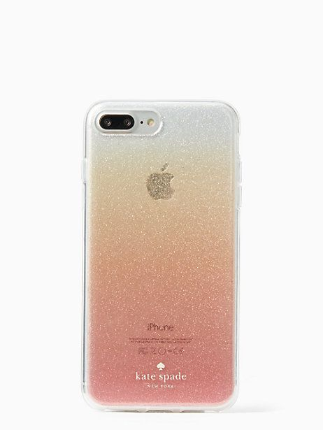 official photos 17772 26ba0 glitter ombre iphone 7/8 plus case by kate spade new york | gift ...
