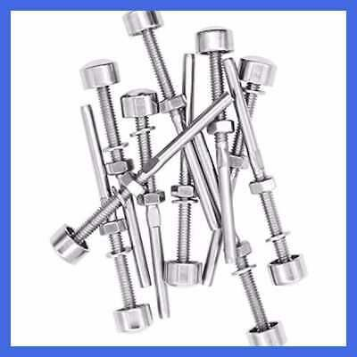 Ad Ebay Url 10 Pack Brushed Stainless Dome End Caps Swage Threaded Cable Tensioner For 1 8 In 2020 Stainless Steel Cable Stainless Dome