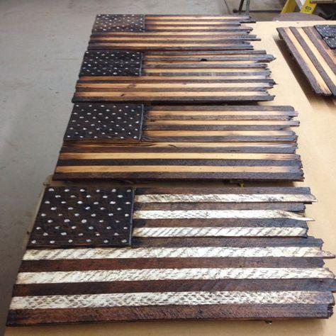 Rustic Wood American Flag by WoodologyShop on Etsy Wooden American Flag, American Flag Wood, Pallet Flag, Wood Flag, Diy Furniture Projects, Diy Pallet Projects, Barn Wood, Rustic Wood, Wood Panel Walls