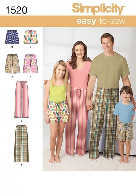 Simplicity 9505 Misses Easy to Sew Pajamas Nightgown PJ Top Short Pattern XS-XL
