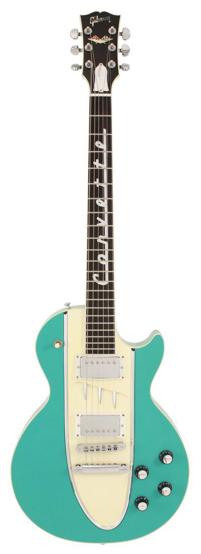 a gibson les paul for corvette lovers. cascade green. @Amber Massey Lono you need this one!!!