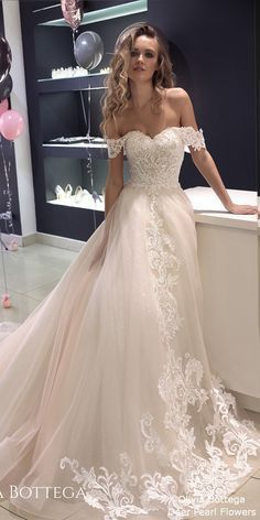 White Bridal Dress Off Shoulder Wedding Dresses Long Custom