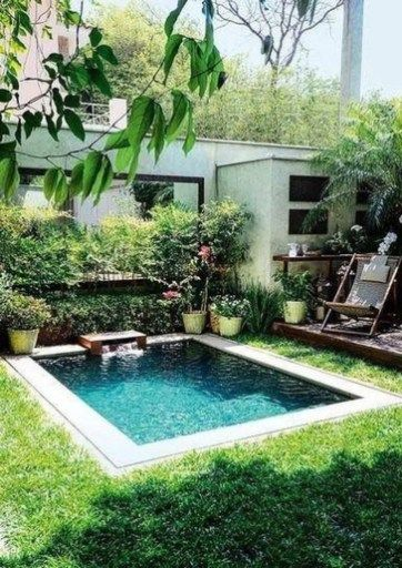 30 Amazing Natural Small Pools Design Ideas For Backyard With