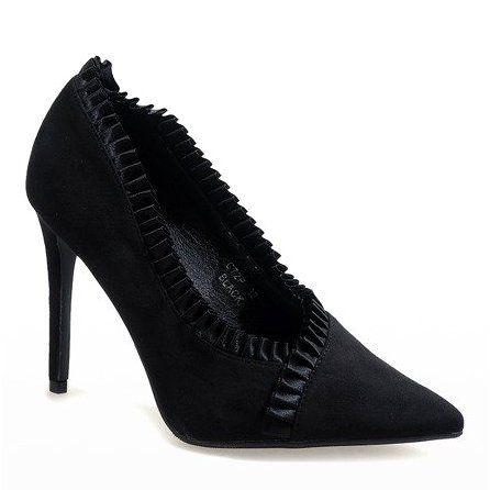 Czarne Klasyczne Szpilki C72p Heels Black Stilettos Women Shoes