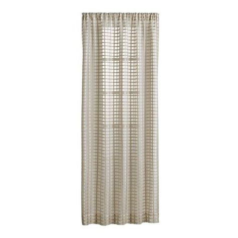 Ross Natural Sheer Curtain Panels 60 Liked On Polyvore Featuring Home Home Decor Wind Panel Curtains Sheer Curtain Panels