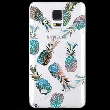 brand new 0302a b80f1 Painting Summer Fresh Fruits Pineapple Cherry Silicon Phone Cases ...