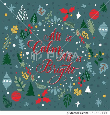 포스터 크리스마스 성탄절 겨울 나뭇가지 일러스트 감정 삽화 배경 바탕 컨셉 연출 벡터 그림 소재 템플릿 Eps Cg 그래픽 디자인 그래픽이미지 페이지 영어 문자 캘리그라피 켈리그라피 캘리 폰트 문구 영 크리스마스