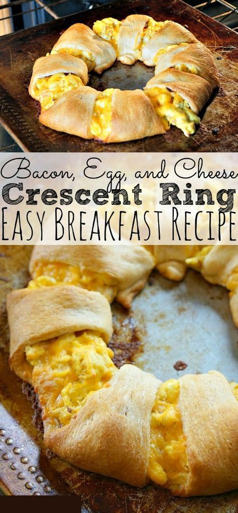 If you're looking for an easy and delicious morning breakfast for the family, then you need to try The Best Bacon Egg and Cheese Crescent Ring Recipe around! Perfect for holiday mornings! - simplytodaylife.com #breakfastrecipe #easybreakfast #breafastcrescent #easyeggrecipe #easterbrunchrecipe #easterbrunch #overnightbreakfast #dinnerbreafast #holidaybreakfastrecipe #busymorningrecipe #baconrecipe #crescentringrecipe #largefamilyrecipe #christmasmorningrecipe