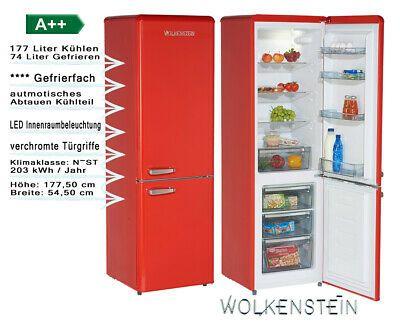 Ebay Sponsored Wolkenstein Retro Kuhl Gefrierkombi Rot 250l A 55cm Breit Kg250 4rt Kuhlschrank Freistehend Kuhlschrank Freistehend Retro Gefrierkombination