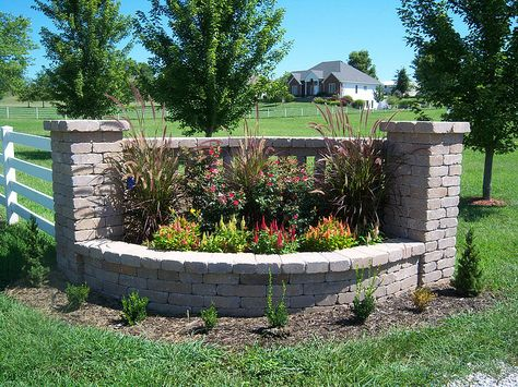 Pictures Of Driveway Entrances Landscaping Indian Creek Walls Driveway Entrance Landscaping Landscaping Entrance Driveway Entrance
